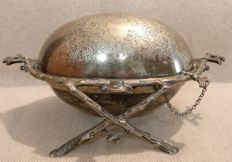 Silver plated cheese bowl - Italy, Venice - late 1700s