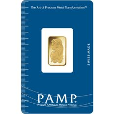 Sealed 2.5g Pamp Suisse Lady Fortuna Minted Gold Bar Ingot