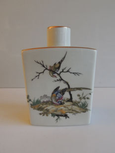Limoges; L. Bernardaud - alcohol bottle - decoration of birds - 1950