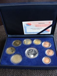 Spain - Year pack 2002, including silver 12 Euro coin