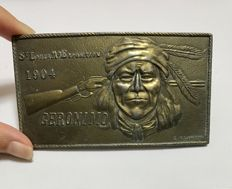 Men Belt Buckle in Memory of Geronimo