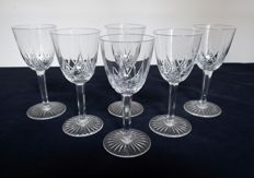 Baccarat - model Epron; 6 liquor glasses in crystal, 8.8 cm, France, circa 1900