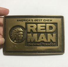 Men Belt Buckle with an American Indian Logo