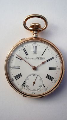IWC - open face pocket watch - 388202 movement - 1901-1949