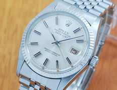Rolex 16014 18K White Gold & S/S DateJust Automatic Watch!