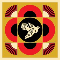 Shepard Fairey (OBEY) - Peace Dove Geometric (Gold)