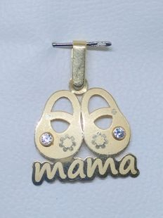 18 kt yellow gold pendant - mama