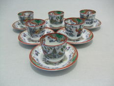 P. Regout - Timor - 6 small bowls with saucers