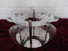 Exclusive silver plated cognac stand with 4 French cognac glasses Luminarc's luxurious look!