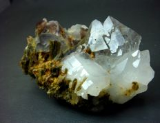 Lovely Axinite and Epidots with Elestial Quartz - 98x65x58 mm - 325 gm
