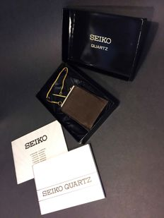 Seiko digital pocket watch/ desk clock  1979