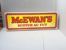 light advertising McEwan's scotch au fut - Belgium - 1989.