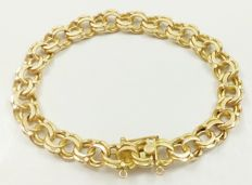Spectacular sturdy bracelet in 18 kt yellow gold composed of Hungarian mesh *Free of charge and insured shipping*