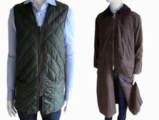 Barbour – Burghley wax coat & body warmer