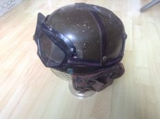 German Tank helmet M64 with glasses