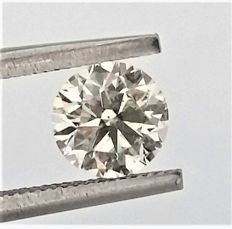 Round Brilliant Cut  - 0.96 carat  - H color  - VS2 clarity  - Natural Diamond - 3 x VG  - With AIG Certificate + Laser Inscription On Girdle