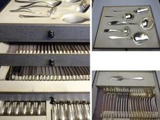 Keltum silver plated cutlery double filet - cutlery and serving cutlery - silver napkin chain - 1970s