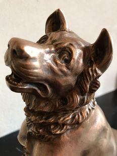 A large bronze shepherd's dog - c. 1900