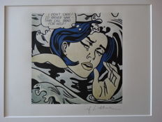 Roy Lichtenstein Lithograph Print - I Don´t Care! - Printed Signature On Plate