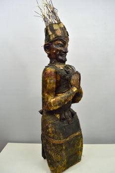 Large wooden figure of a Shaman - Nepal - end 20th century