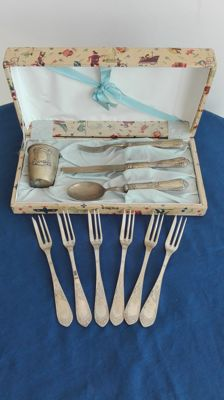 "Vintage collectible ""Prima Infanzia"" ""SOLINGEN"" cutlery items - dessert forks"
