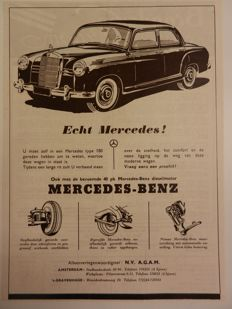42 MERCEDES-BENZ advertisements - 1950-1969