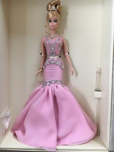 Very rare Silkstone Barbie - The Soiree pink dress - Mattel - US