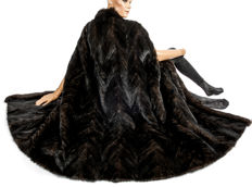 Rare fur cape made of mink, mink coat, cape