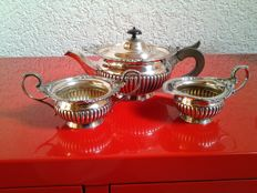 Three Piece Silver Bachelors Tea Set - William Hutton - London - 1905