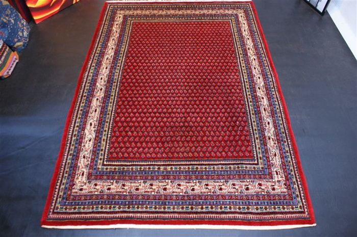 Handwoven original Persian carpet Oriental Sarouk Mir approx. 270 x 188cm. In great condition Iran, recently cleaned