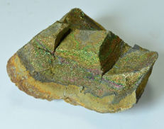 Large rare Rainbow pyrite - 8 x 7 x 4 cm - 200gm