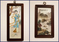 Painting on porcelain scholar - China - end of the 20th/21st century