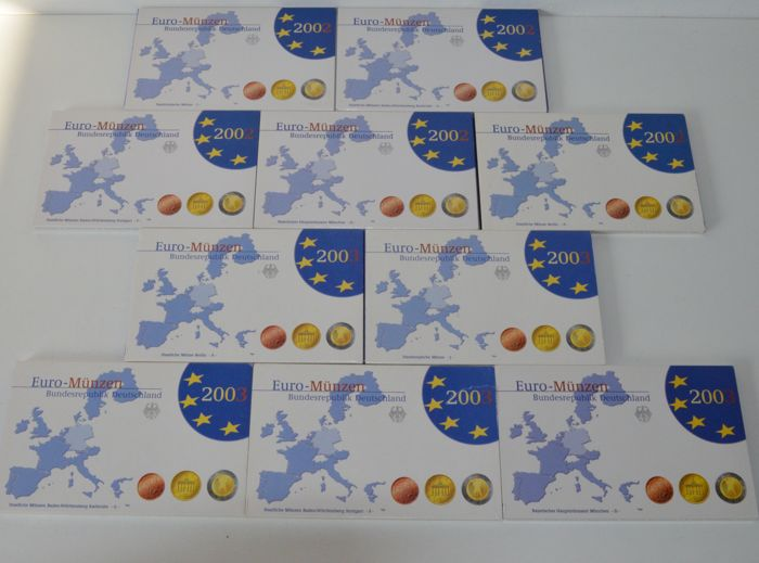 Germany – Year collections 2002 and 2003 A, D, F, G, J (10 collections)