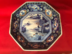 Octagonal porcelain plate - Japan, late 19th-early 20th Century