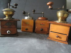 4 Old coffee grinders