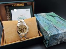1997 ROLEX DAYTONA 16523 2-TONE WITH ORIGINAL CHAMPAGNE DIAL (ZENITH) WITH BOX AND PAPER