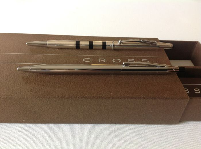 Cross-1 x Cross Century Signet Sterling Silver Ballpoint Pen + 1 Cross Classic Century Mechanical Pencil