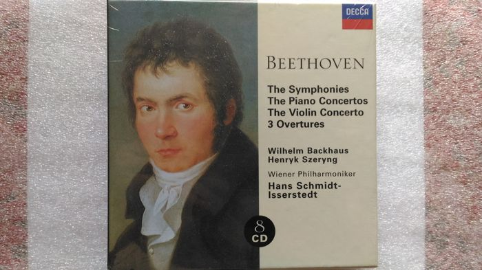Decca-RARE- Ludwig van Beethoven  - The Symphonies / The Piano Concertos / The Violin Concerto / 3 Overtures (8CD SEALED) + Rachmaninoff - Complete Works (Brilliant Classics) BOX SET (31 Cd as mint)