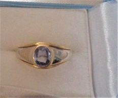 Vintage 18 ct Gold & Sapphire Ring