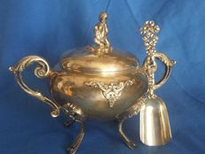 Italian sugar bowl from silver, 1900