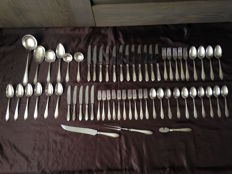 Diverse cutlery pieces of 'GERO' (90) silver plated 61st. - Holland, 20th century