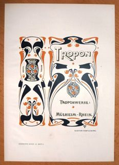 Henry van de Velde - original graphic for TROPON protein nutrition