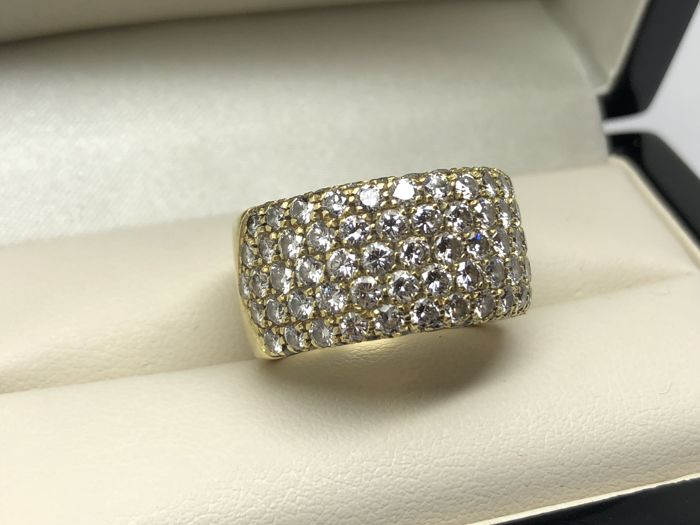 Wempe - Ring with 7 rows of Diamonds of 3.5/4 ct total approx. 2000 - Size FR 53/54