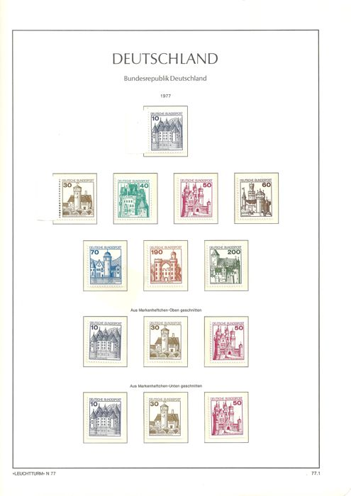 Federal Republic of Germany collection 1977 to 1989 in Leuchtturm springback binder