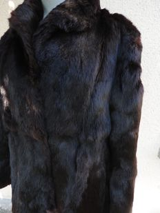 Fur coat made of rabbit fur, in good condition, hardly worn.