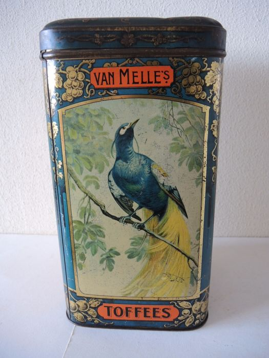 Large antique art nouveau van Melle shop tin - circa 1910