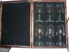 6 Remy Martin Cognac Glasses in Presentation Case