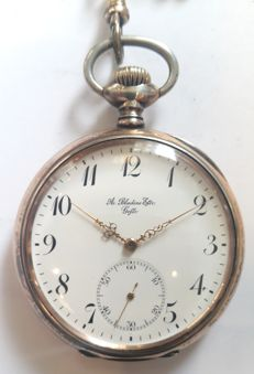 Zenith pocket watch - Switzerland, made for trading house A. Bladins Eftr. ,1900s