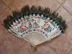 Fan decorated with Chinese musicians - China - late 19th century
