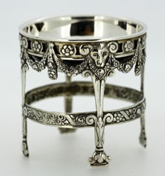 Antique German Silver Salt Holder, Early 20th Century
